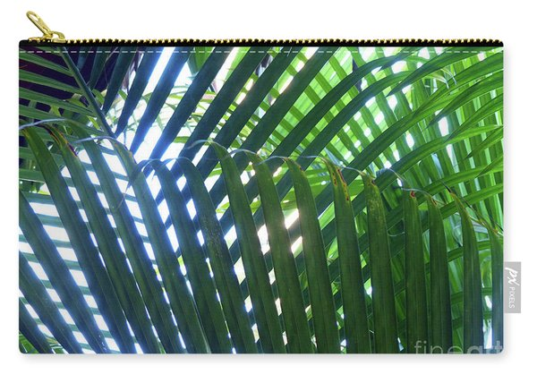 Patterned Palms Carry-all Pouch