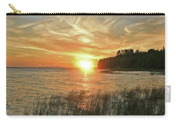 Pavillion View Of The Sunset Sky Carry-all Pouch