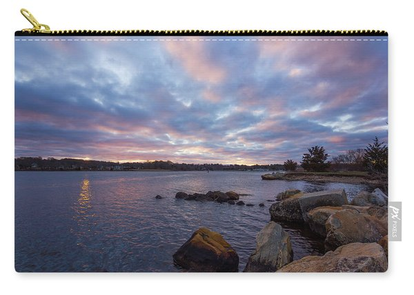 Pawcatuck River Sunrise Carry-all Pouch