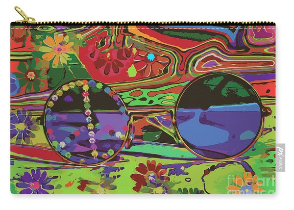 Carry-all Pouch featuring the digital art Peace Art by Eleni Mac Synodinos