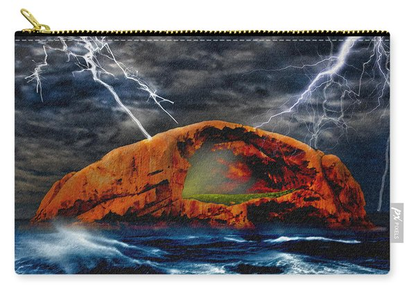 Peace In The Cleft In The Midst Of The Storm Carry-all Pouch