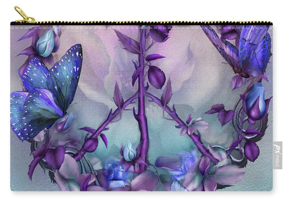 Peace Rose - Blue Carry-all Pouch
