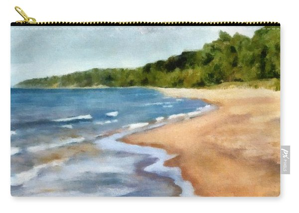 Peaceful Beach At Pier Cove Ll Carry-all Pouch
