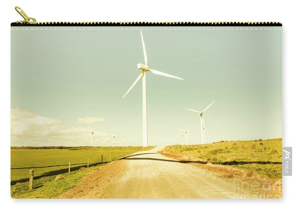 Peaceful Pastel Wind Farm Carry-all Pouch