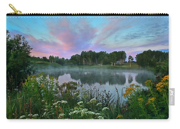 Peaceful Sunrise At Lake. Altai Carry-all Pouch