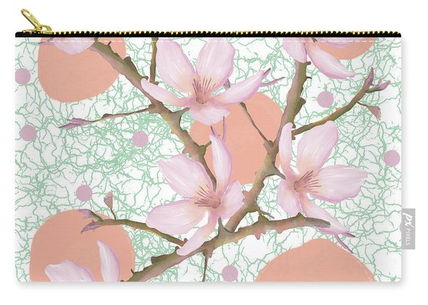Peach Blossom Pattern Carry-all Pouch