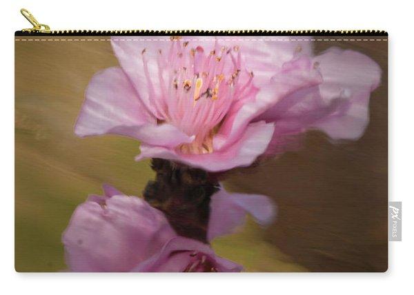 Peach Blossom Through Glass Carry-all Pouch