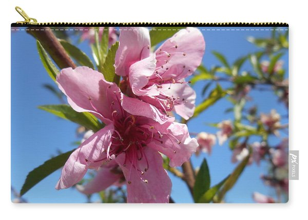 Peach Tree Blossom Pink Flower Carry-all Pouch