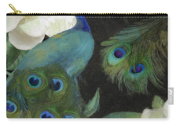 Peacock And Magnolia II Carry-all Pouch