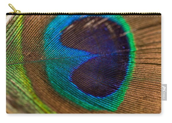 Peacock Feather Macro Detail Carry-all Pouch