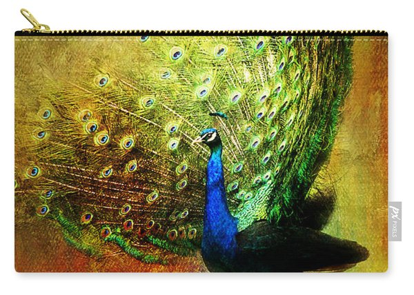 Peacock In Full Color Carry-all Pouch