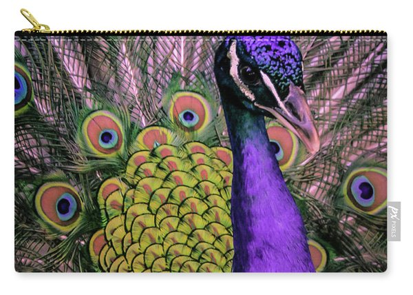 Peacock In Purple 2 Carry-all Pouch