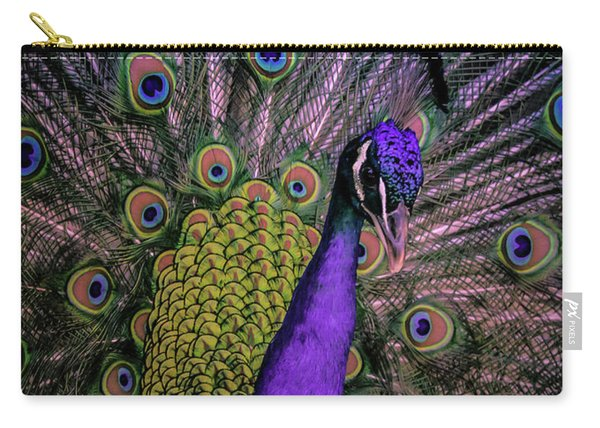 Peacock In Purple Carry-all Pouch