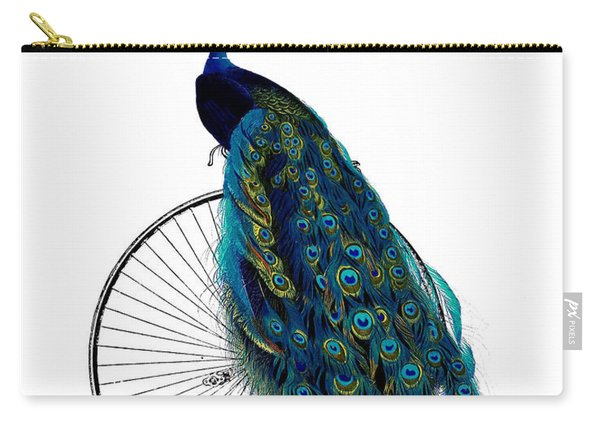 Peacock On A Bicycle, Home Decor Carry-all Pouch