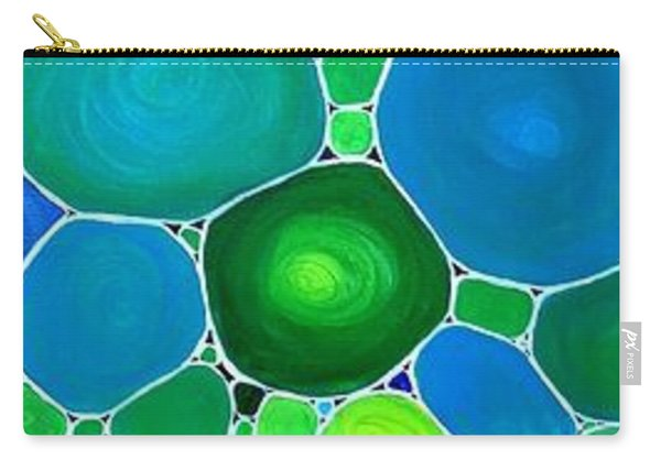 Peacock Pebbles  Carry-all Pouch