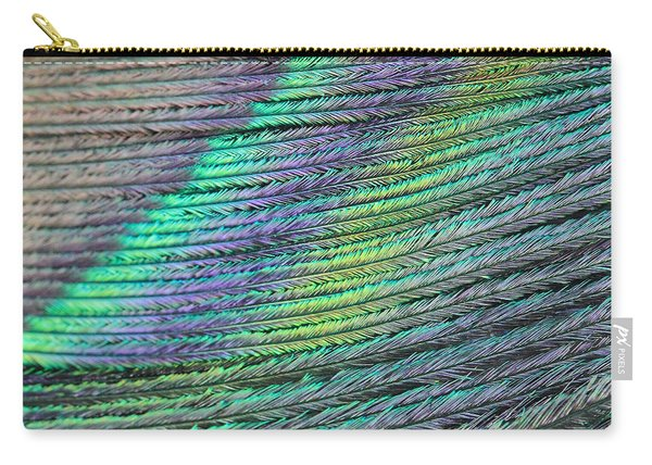 Peacock Stripes Carry-all Pouch