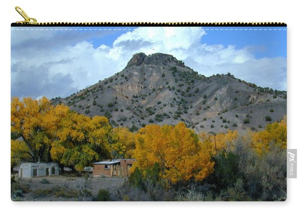 Carry-all Pouch featuring the photograph Peak Above Yellow by Joseph R Luciano