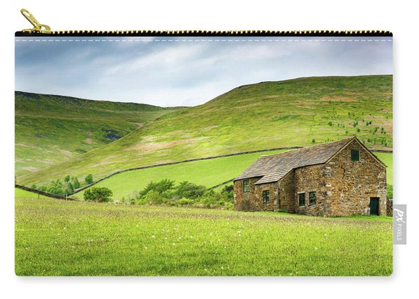 Carry-all Pouch featuring the photograph Peak Farm by Nick Bywater