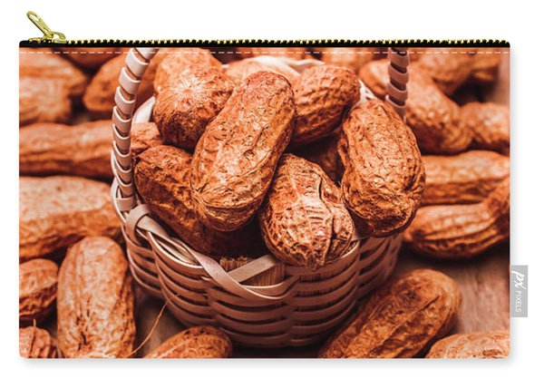 Peanuts In Tiny Basket In Close-up Carry-all Pouch
