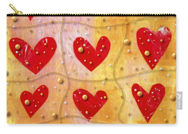 Pearly Hearts Valentine Carry-all Pouch