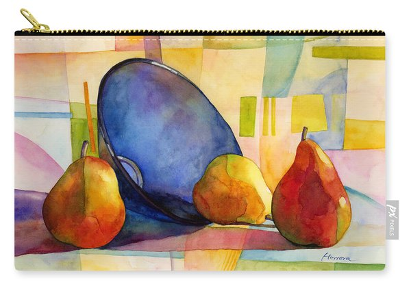Pears And Blue Bowl Carry-all Pouch