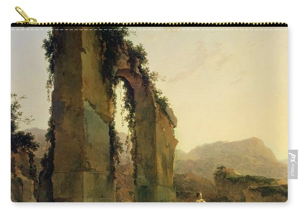 Peasants With Cattle By A Ruined Aqueduct Carry-all Pouch