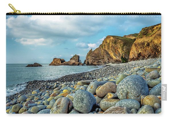 Carry-all Pouch featuring the photograph Pebbles On The Beach by Nick Bywater