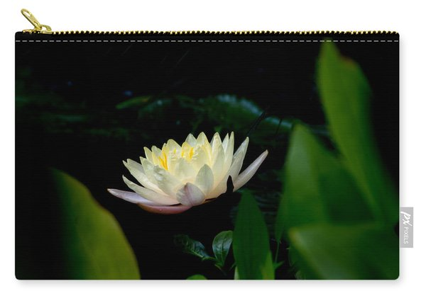 Peekaboo Lemon Water Lily Carry-all Pouch