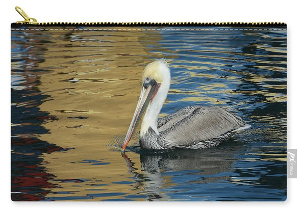 Pelican In Watercolors Carry-all Pouch