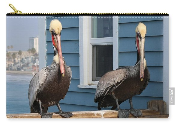 Carry-all Pouch featuring the photograph Pelican Pals  by Christy Pooschke