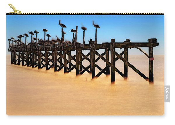 Pelican Pier Near Pass Christian - Mississippi Carry-all Pouch