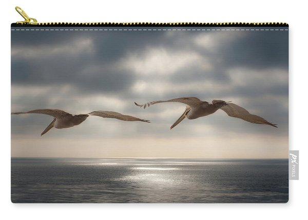 Pelicans At Sea Carry-all Pouch
