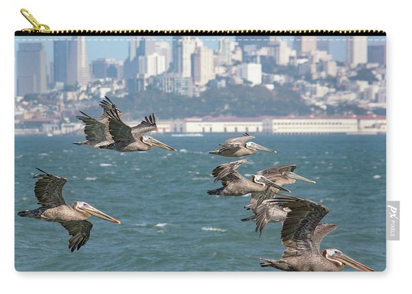 Pelicans Over San Francisco Bay Carry-all Pouch