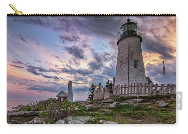 Pemaquid Point Lighthouse At Sundown Carry-all Pouch