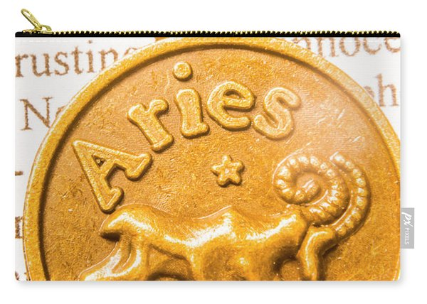 Pendanting The Zodiac Aries Carry-all Pouch