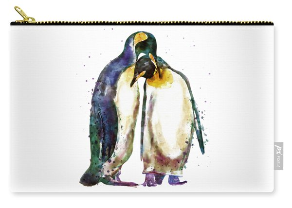 Penguin Couple Carry-all Pouch