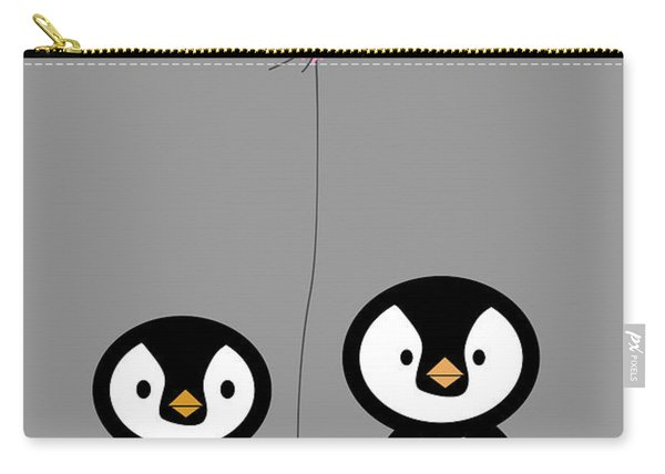 Penguins Hand In Hand Carry-all Pouch
