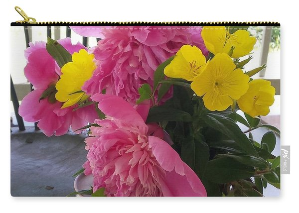 Peonies And Primroses Carry-all Pouch