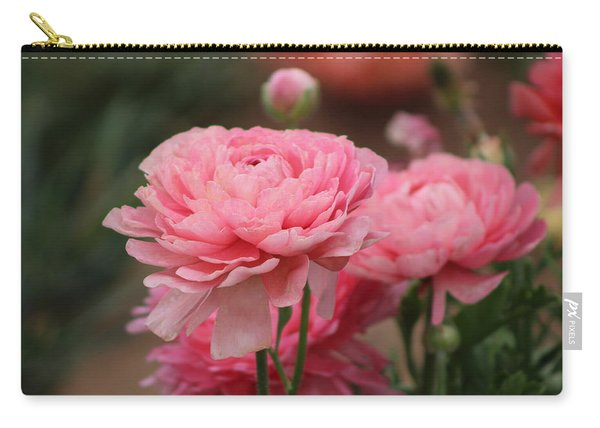 Peony Pink Ranunculus Closeup Carry-all Pouch