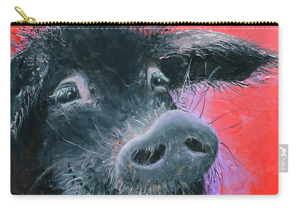 Percival The Black Pig Carry-all Pouch