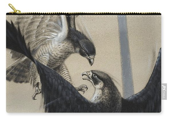 Peregrine Falcon And Kestrel Carry-all Pouch