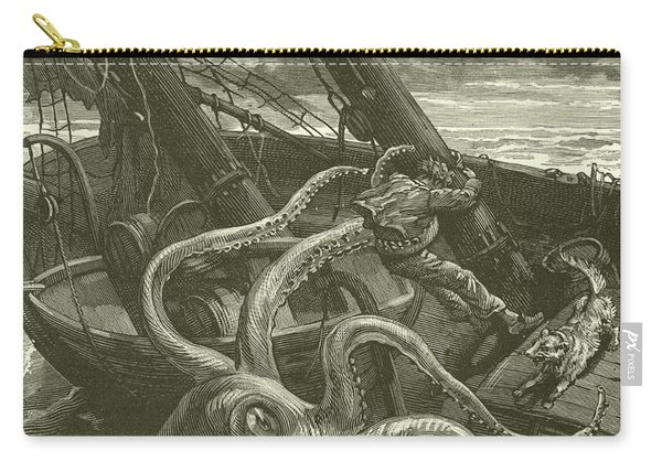 Perilous Adventures At Sea Carry-all Pouch