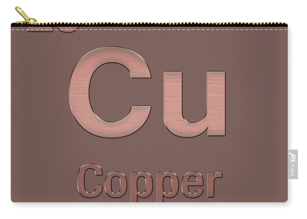 Periodic Table Of Elements - Copper - Cu - Copper On Copper Carry-all Pouch