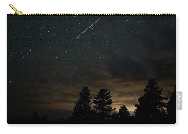 Carry-all Pouch featuring the photograph Perseid Meteor by Bill Gabbert