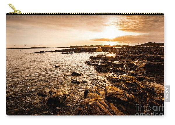 Petal Point Ocean Sunrise Carry-all Pouch