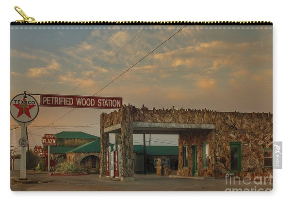 Petrified Gas Station After Rain Carry-all Pouch