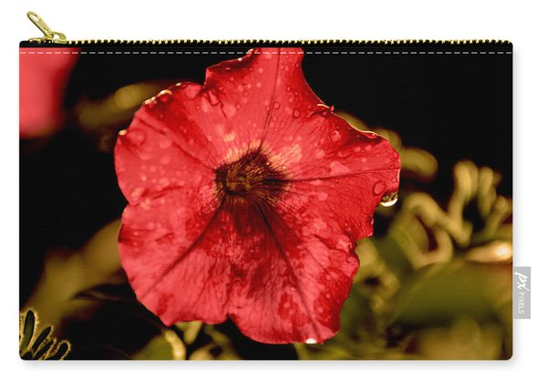 Petunia After Rain Carry-all Pouch