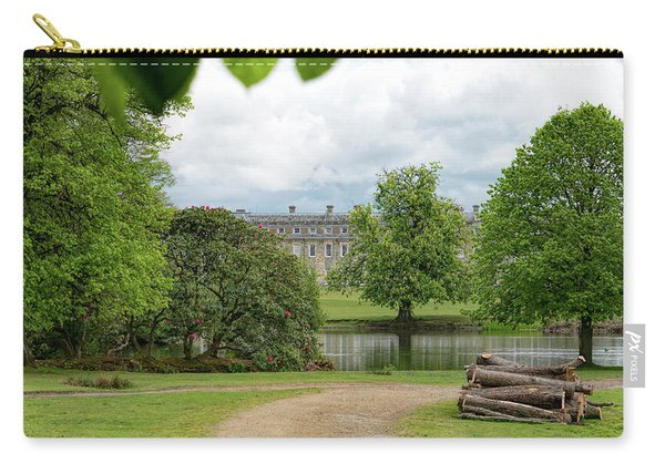 Carry-all Pouch featuring the photograph Petworth House On Lake by Michael Hope