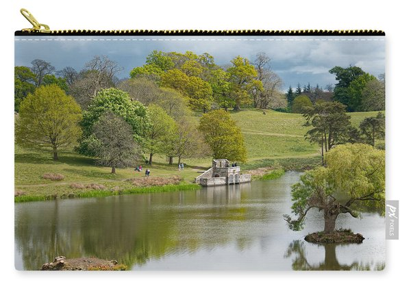 Carry-all Pouch featuring the photograph Petworth Lake In April by Michael Hope