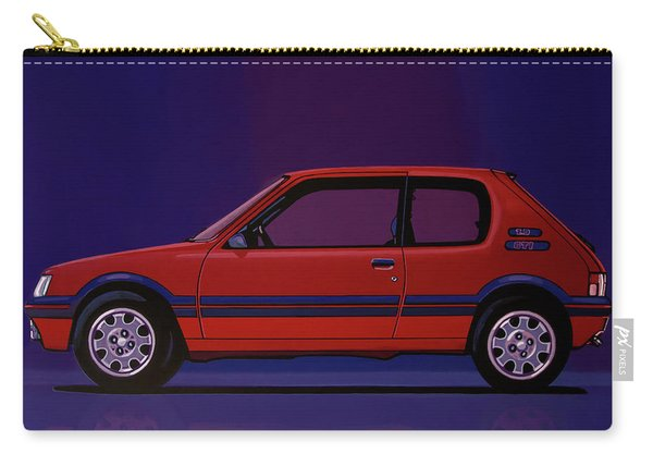 Peugeot 205 Gti 1984 Painting Carry-all Pouch